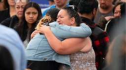Friends and family of those lost on White Island when it erupted on December 9, arrive back into Whakatane after traveling on a White Island Tours boat for a blessing out at sea in Whakatane, New Zealand on December 13, 2019.