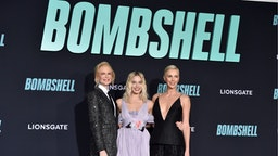 "Nicole Kidman, Margot Robbie, and Charlize Theron attend the special screening of Liongate's ""Bombshell"" at Regency Village Theatre on December 10, 2019 in Westwood, California."