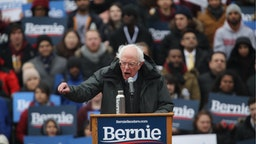 Democratic Presidential candidate U.S. Sen. Bernie Sanders (I-VT) speaks to supporters at Brooklyn College on March 02, 2019 in the Brooklyn borough of New York City.