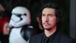 US actor Adam Driver poses on the red carpet for the European Premiere of Star Wars: The Last Jedi at the Royal Albert Hall in London on December 12, 2017. (Photo by Daniel LEAL-OLIVAS / AFP) (Photo credit should read DANIEL LEAL-OLIVAS/AFP via Getty Images)