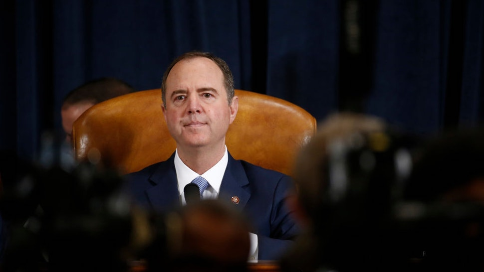 Representative Adam Schiff, a Democrat from California and chairman of the House Intelligence Committee, arrives for an impeachment inquiry hearing in Washington, D.C., U.S., on Thursday, Nov. 21, 2019. The committee hears from nine witnesses in open hearings this week in the impeachment inquiry into President Donald Trump. Photographer: Andrew Harrer/Bloomberg
