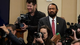 UNITED STATES - DECEMBER 4: Rep. Al Green, D-Texas, watches the House Judiciary Committee hearing on the impeachment inquiry of President Trump in Longworth Building on Wednesday Dec. 4, 2019