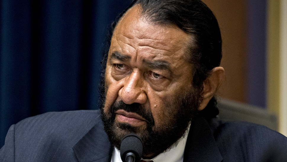 Representative Al Green, a Democrat from Texas, listens while questioning David Marcus, head of blockchain with Facebook Inc., not pictured, during a House Financial Services Committee hearing in Washington, D.C., U.S., on Wednesday, July 17, 2019. Republican and Democratic Senators sharply questioned Facebook Inc.'s plan to create its own digital money, adding to a chorus of skepticism across Washington and underscoring the challenges the company faces in getting its cryptocurrency off the ground.