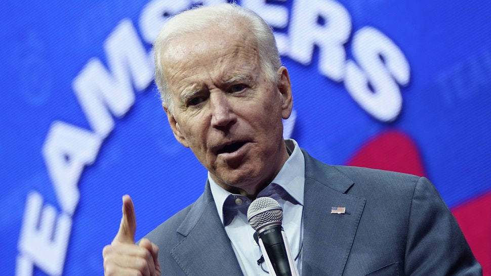 CEDAR RAPIDS, IOWA - DECEMBER 07: Democratic presidential candidate former U.S. Vice president Joe Biden speaks at the Teamsters Vote 2020 Presidential Candidate Forum December 7, 2019 in Cedar Rapids, Iowa. The Iowa Caucuses are less than two months away.