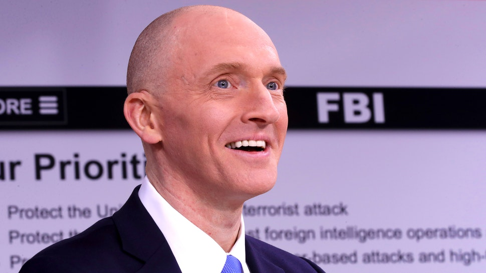 WASHINGTON, DC - MAY 29: Global Natural Gas Ventures founder Carter Page participates in a discussion on 'politicization of DOJ and the intelligence community in their efforts to undermine the president' hosted by Judicial Watch at the One America News studios on Capitol Hill May 29, 2019 in Washington, DC. A former Trump campaign advisor, Page was the subject of electronic surveillance by the FBI because a judge found probable cause that he was acting as an agent of the Russian government.