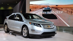 The 2011 Chevrolet Volt on display at the 2011 Washington Auto Show January 27, 2011 at the Washington Convention Center in Washington, DC. The shows runs January 28 - February 6