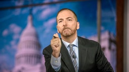 "Moderator Chuck Todd appears on ""Meet the Press"" in Washington, D.C., Sunday August 4, 2019. (Photo by: William B. Plowman/NBC/NBC Newswire/NBCUniversal via Getty Images)"