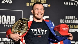 Colby Covington poses for the media during the UFC 245 Ultimate Media Day at the Red Rock Casino Resort on December 12, 2019 in Las Vegas, Nevada. (Photo by Chris Unger/Zuffa LLC via Getty Images)