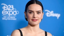 ANAHEIM, CALIFORNIA - AUGUST 24: Daisy Ridley attends Go Behind The Scenes with Walt Disney Studios during D23 Expo 2019 at Anaheim Convention Center on August 24, 2019 in Anaheim, California.