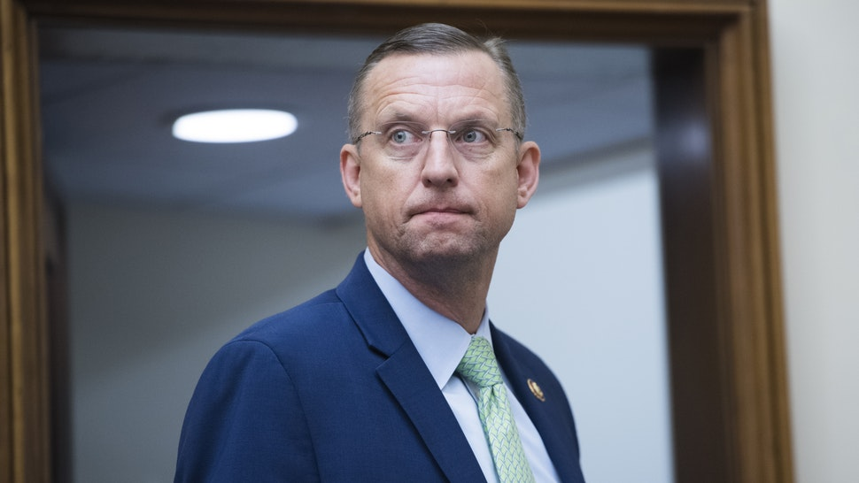 UNITED STATES - MAY 8: Ranking member Rep. Doug Collins, R-Ga., is seen during a House Judiciary Committee markup in Rayburn Building on Wednesday, May 8, 2019, to vote on whether to hold Attorney General William Barr in contempt of Congress for refusing to turn over the unredacted Mueller report to the committee.