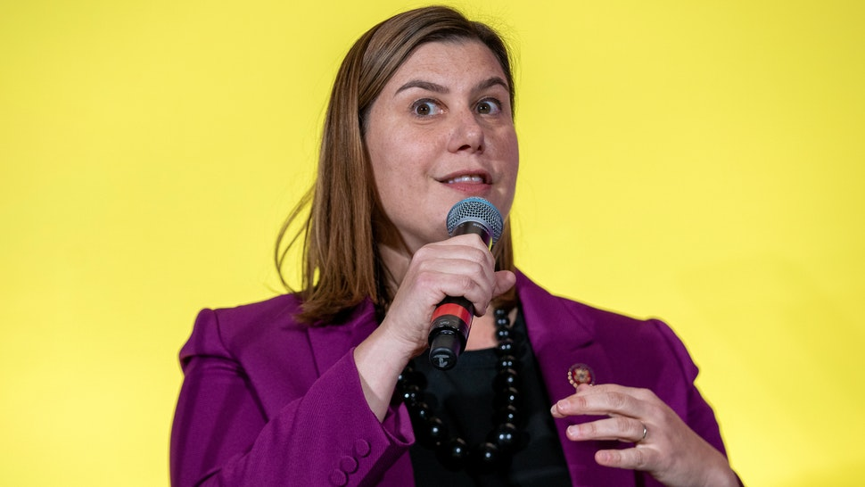 Representative Elissa Slotkin, a Democrat from Michigan, speaks during the DNC Women's Leadership Forum conference in Washington, D.C., U.S., on Thursday, Oct. 17, 2019. The WLF serves as the Democratic Party's centralized hub for activation, information, and fundraising for Democratic women and their allies.