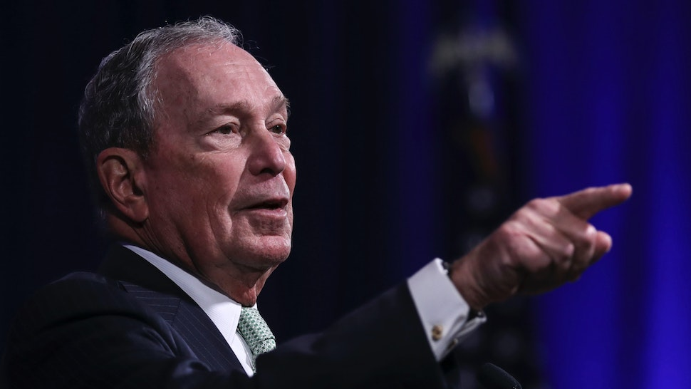 Newly announced Democratic presidential candidate, former New York Mayor Michael Bloomberg speaks during a press conference to discuss his presidential run on November 25, 2019 in Norfolk, Virginia.