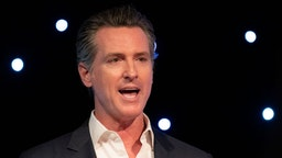 California Governor Gavin Newsom speaks at Planet's Explore 19 Conference in San Francisco, California on October 15, 2019. The Governor talks about the importance of protecting our environment and enhance the states capability at dealing with natural disasters such as wild fire. (Photo by Yichuan Cao/NurPhoto)