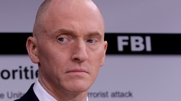 WASHINGTON, DC - MAY 29: Global Natural Gas Ventures founder Carter Page participates in a discussion on 'politicization of DOJ and the intelligence community in their efforts to undermine the president' hosted by Judicial Watch at the One America News studios on Capitol Hill May 29, 2019 in Washington, DC. A former Trump campaign advisor, Page was the subject of electronic surveillance by the FBI because a judge found probable cause that he was acting as an agent of the Russian government. (Photo by Chip Somodevilla/Getty Images)