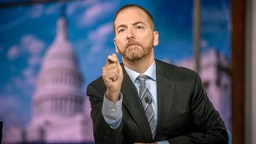 """Moderator Chuck Todd appears on """"Meet the Press"""" in Washington, D.C., Sunday August 4, 2019."""