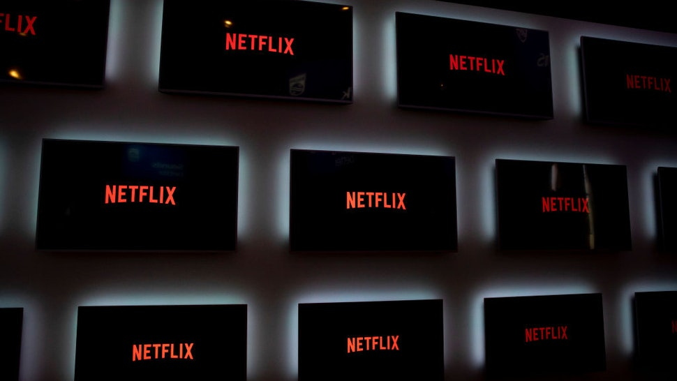 Monitors with Netflix logo are pictured during the international electronics and innovation fair IFA in Berlin on September 10, 2019.