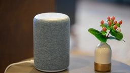 An Amazon.com Inc. Echo Plus device is displayed during an unveiling event at the company's headquarters in Seattle, Washington, U.S., on Wednesday, Sept. 25, 2019. Amazon.com Inc.defended the privacy features of its Alexa digital assistant -- and introduced some new tools to reassure users -- following months of debate about the practices of the technology giant and its largest competitors. Photographer: Chloe Collyer/Bloomberg via Getty Images