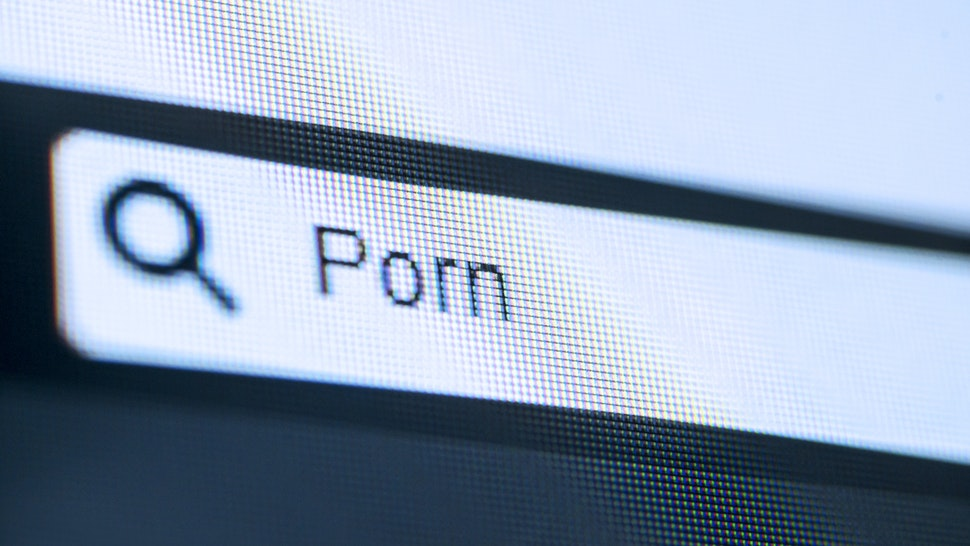 Porn typed on search bar