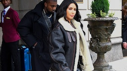 NEW YORK, NY - NOVEMBER 07: Kim Kardashian-West and Kanye West are seen out and about in Manhatta on November 7, 2019 in New York City. (Photo by Raymond Hall/GC Images) Comp Save to Board PREMIUM ACCESS Small
