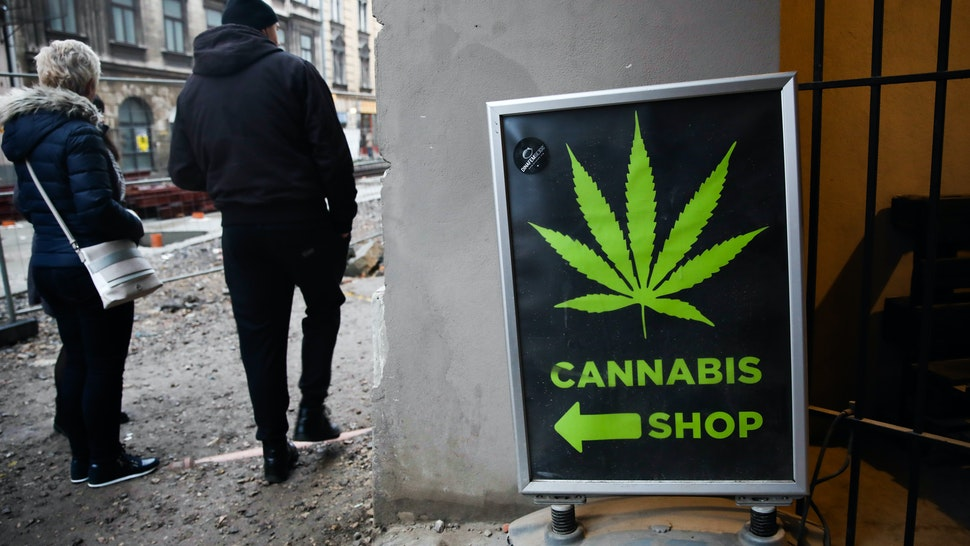 Legally operating Cannabis Shop, selling hemp products, in Krakow, Poland on November 9 2019. (Photo by Jakub Porzycki/NurPhoto via Getty Images)