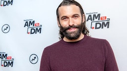 "Jonathan Van Ness visits BuzzFeed's ""AM To DM"" on October 31, 2019 in New York City."