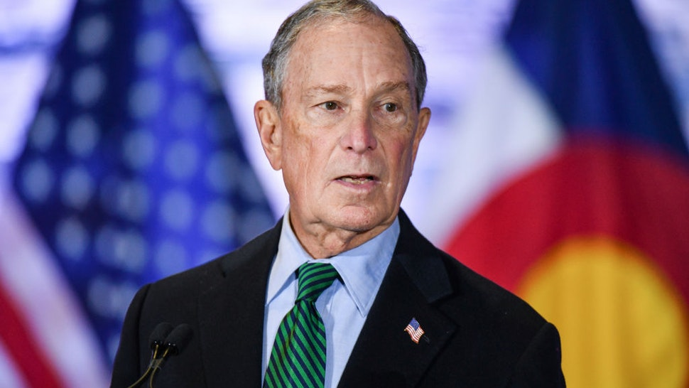 AURORA, CO - DECEMBER 05: Democratic presidential candidate, former New York City Mayor Michael Bloomberg speaks during an event to introduce his gun safety policy agenda at the Heritage Christian Center on December 5, 2019 in Aurora, Colorado. The event, which was closed to the public, was held with survivors of gun violence and community leaders from across Colorado.
