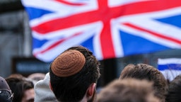 LONDON, UNITED KINGDOM DECEMBER 08, 2019 - People stage a Together Against Antisemitism rally in Parliament Square- PHOTOGRAPH BY Matthew Chattle / Barcroft Media (Photo credit should read Matthew Chattle / Barcroft Media via Getty Images)