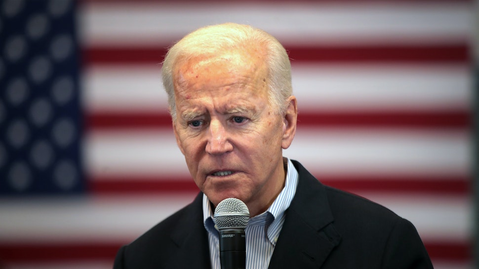 """ALGONA, IOWA - DECEMBER 02: Democratic presidential candidate, former Vice President Joe Biden speaks during a campaign stop at the Water's Edge Nature Center on December 2, 2019 in Algona, Iowa. The stop was part of Biden's 650-mile """"No Malarkey"""" campaign bus trip through rural Iowa. The 2020 Iowa Democratic caucuses will take place on February 3, 2020, making it the first nominating contest for the Democratic Party in choosing their presidential candidate to face Donald Trump in the 2020 election."""