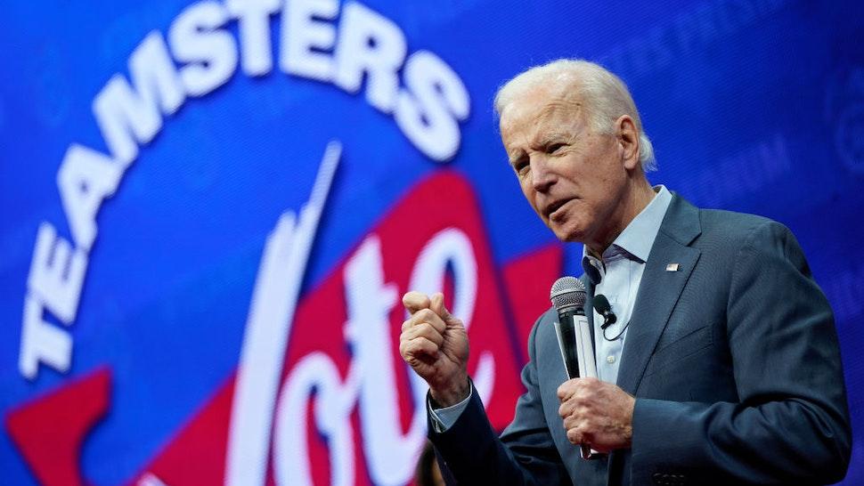 Democratic presidential candidate former U.S. Vice president Joe Biden speaks at the Teamsters Vote 2020 Presidential Candidate Forum December 7, 2019 in Cedar Rapids, Iowa.