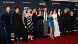 """Hadley Robinson, James Norton, Louis Garrel, Saoirse Ronan, Laura Dern, Emma Watson, Tracy Letts, Florence Pugh, Eliza Scanlen, Chris Cooper and producer Amy Pascal attend the """"Little Women"""" World Premiere at Museum of Modern Art on December 07, 2019 in New York City."""