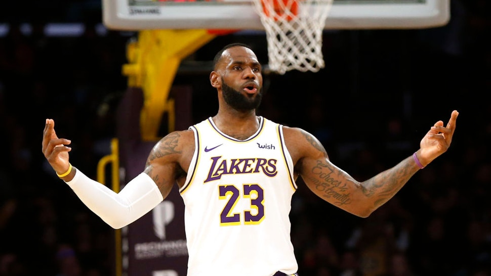 LeBron James #23 of the Los Angeles Lakers looks on during the second half against the Minnesota Timberwolves at Staples Center on December 08, 2019 in Los Angeles, California.