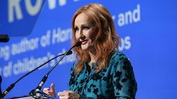 NEW YORK, NEW YORK - DECEMBER 12: J.K. Rowling accepts an award onstage during the Robert F. Kennedy Human Rights Hosts 2019 Ripple Of Hope Gala & Auction In NYC on December 12, 2019 in New York City. (Photo by Bennett Raglin/Getty Images for for Robert F. Kennedy Human Rights)
