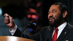 CHARLOTTE, NC - SEPTEMBER 05: U.S. Rep. Al Green (D-TX) speaks during day two of the Democratic National Convention at Time Warner Cable Arena on September 5, 2012 in Charlotte, North Carolina. The DNC that will run through September 7, will nominate U.S. President Barack Obama as the Democratic presidential candidate. (Photo by Chip Somodevilla/Getty Images)