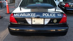A Milwaukee Police Car, sits parked at the Henry W. Maier Festival Park(Summerfest Grounds) in Milwaukee, Wisconsin.