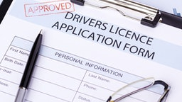 Drivers licence application form approved