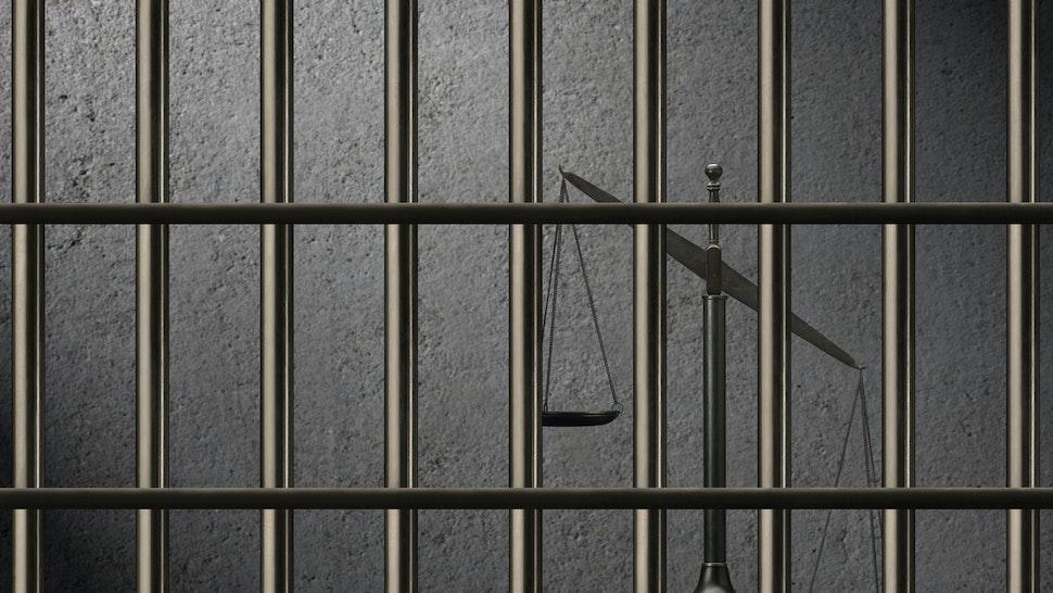 Unbalanced Scales of Justice Behind Bars.