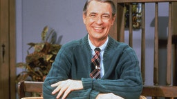 Portrait of American educator and television personality Fred Rogers (1928 - 2003) of the television series 'Mister Rogers' Neighborhood,' circa 1980s.