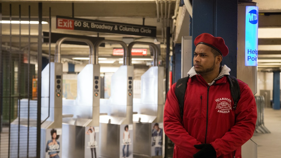 COLUMBUS CIRCLE, NEW YORK CITY, NY, UNITED STATES - 2016/02/02: The Guardian Angels patrol the New York subway at Columbus Circle for the first time in 22 years after a spree of slashing attacks. (Photo by Louise Wateridge/Pacific Press/LightRocket via Getty Images)