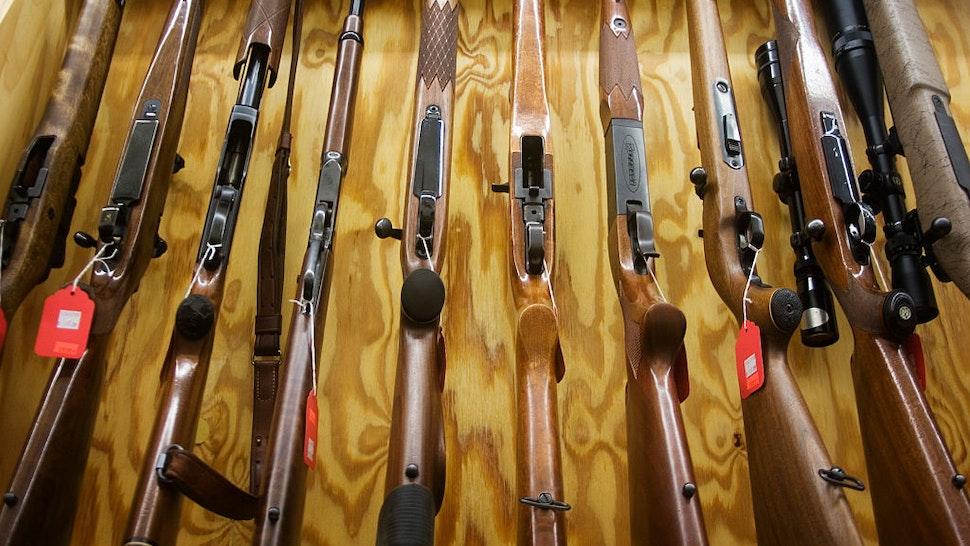 Gun shop in Burlington, near to Minot, North Dakota.