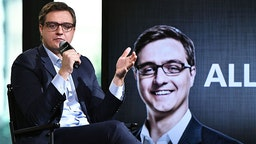 """Emmy-winning """"All In"""" host Christopher Hayes stops by AOL BUILD at AOL HQ on November 1, 2016 in New York City."""