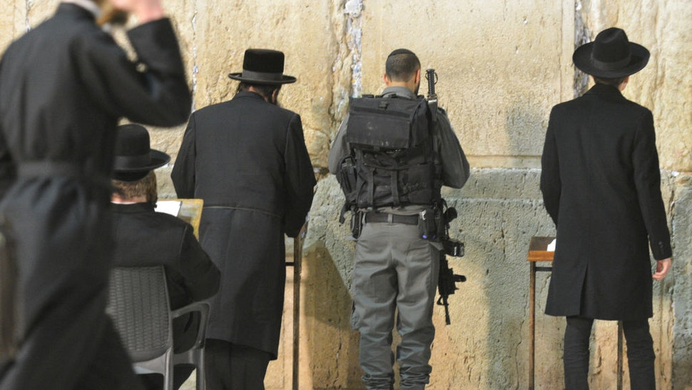 Jews praying at the Western Wall inside the Old City in Jerusalem. Wednesday, 14 March 2018, in Jerusalem, Israel.