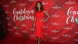 """LOS ANGELES, CA - DECEMBER 04: Actress Holly Robinson Peete attends the Hallmark Channel's Countdown To Christmas Celebration and VIP screening of """"Christmas At Holly Lodge"""" at The Grove on December 4, 2017 in Los Angeles, California."""