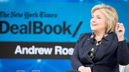 Hillary Rodham Clinton, Former First Lady, U.S. Senator, U.S. Secretary of State speaks onstage at 2019 New York Times Dealbook on November 06, 2019 in New York City. (Photo by Mike Cohen/Getty Images for The New York Times)