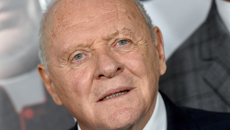 "HOLLYWOOD, CALIFORNIA - NOVEMBER 18: Anthony Hopkins attends the ""The Two Popes"" premiere during AFI FEST 2019 presented by Audi at TCL Chinese Theatre on November 18, 2019 in Hollywood, California. ("