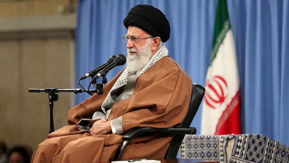 Iranian Supreme Leader Ayatollah Ali Khamanei presents statements regarding ongoing protests across Iran against petrol price increases, in Tehran, Iran on November 27, 2019.