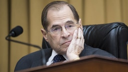 Chairman Jerrold Nadler, D-N.Y., prepares to begin a House Judiciary Committee hearing in Rayburn Building that was scheduled to feature testimony by Attorney General William Barr on Russian Interference in the 2016 election and the Robert Mueller report on Thursday, May 2, 2019. Barr did not show up for the hearing citing displeasure with the format.