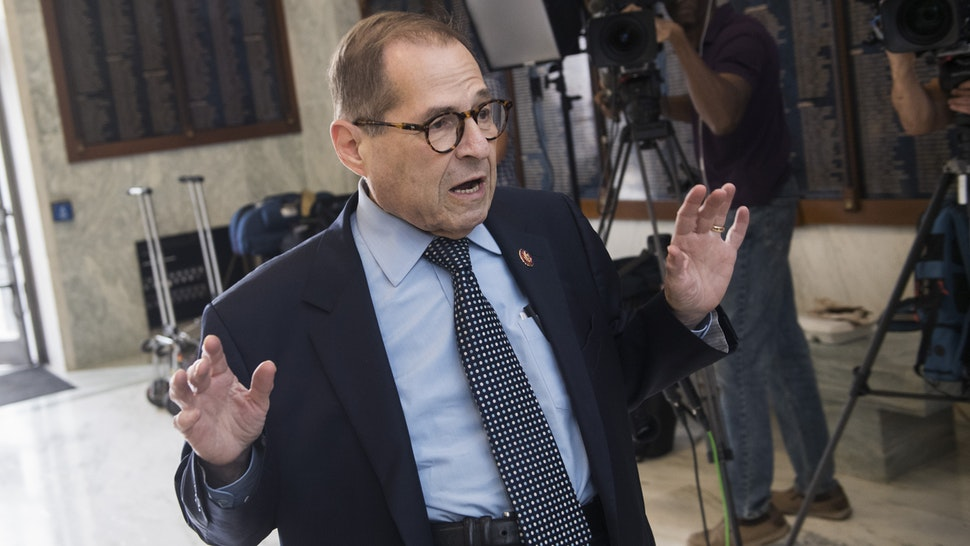 UNITED STATES - SEPTEMBER 17: Chairman Jerrold Nadler, D-N.Y., arrives for the House Judiciary Committee hearing titled Presidential Obstruction of Justice and Abuse of Power, in Rayburn Building on Tuesday, September 17, 2019. Corey Lewandowski, former campaign manager for the Trump presidential campaign, testified.