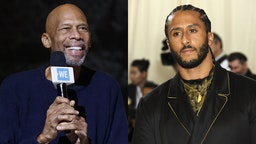 Photo of Abdul-Jabbar by Andrew Chin/GettyImages Photo of Kaepernick by Jennifer Graylock/PA Images/GettyImages