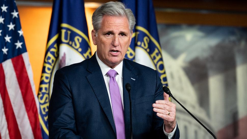 WASHINGTON, DC, UNITED STATES, DECEMBER 5, 2019: U.S. Representative Kevin McCarthy (R-CA) speaks at a weekly press conference in Washington.