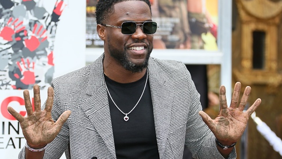 HOLLYWOOD, CALIFORNIA - DECEMBER 10: Kevin Hart is honored with a Hand and Footprint ceremony at the TCL Chinese Theatre IMAX on December 10, 2019 in Hollywood, California.